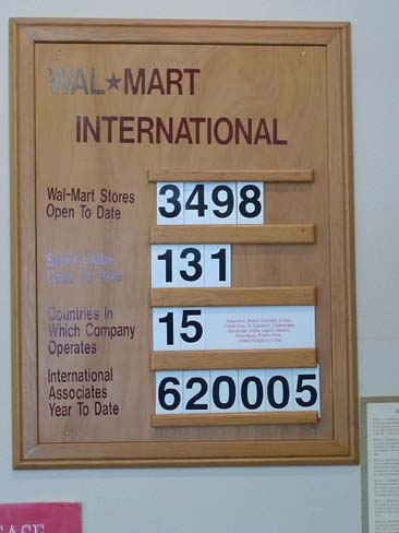 International Wal-Mart Store Count