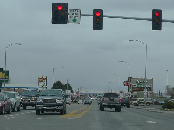 Highway 93 in Twin Falls, Idaho