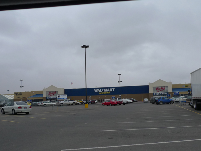 Wal-Mart Supercenter in Jerome, Idaho as seen from I-84