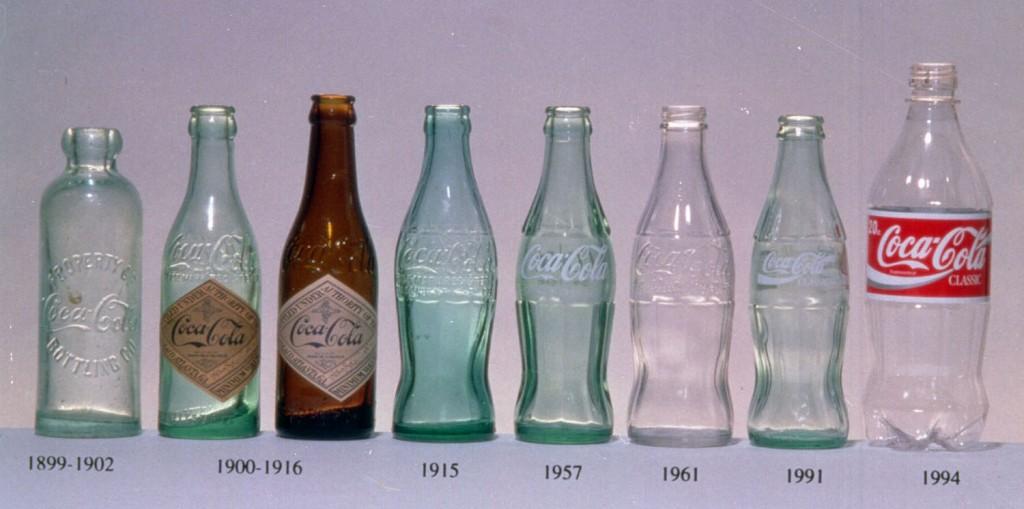 Evolution of the Coke Bottle, image courtesy Coca-Cola Corporation