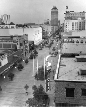 Fulton Mall in late 1960s