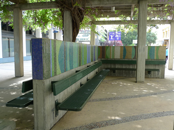 Mosaic Benches by Aiken and Laury