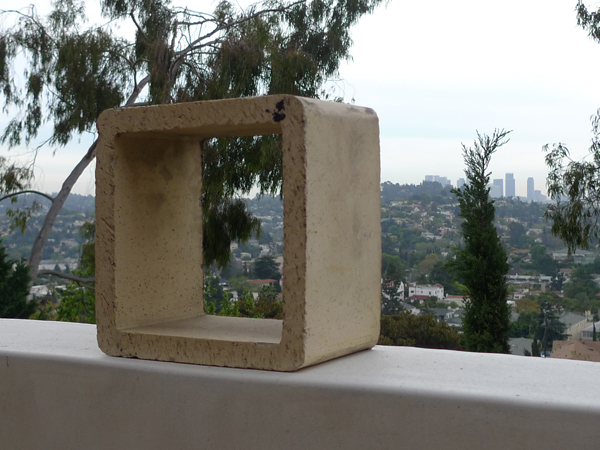 Concrete Block in its temporary LA home