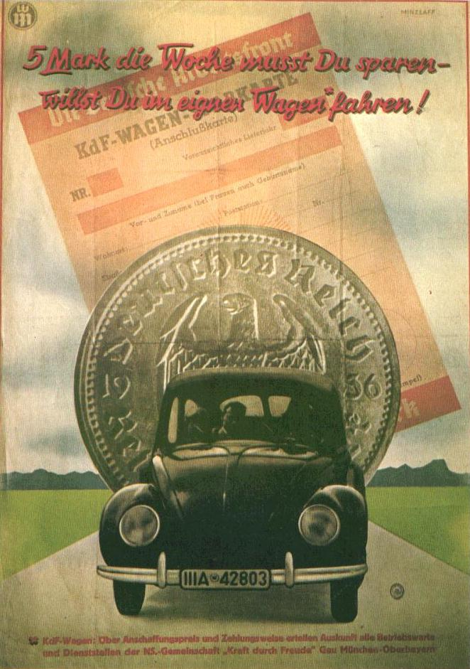 1930s VW promotional poster