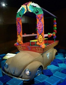 fiesta bug on display at the Museo Antropologia