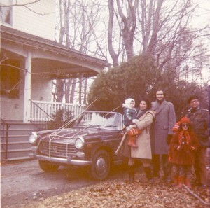 Peugeot 404, front end with Christmas tree and relatives