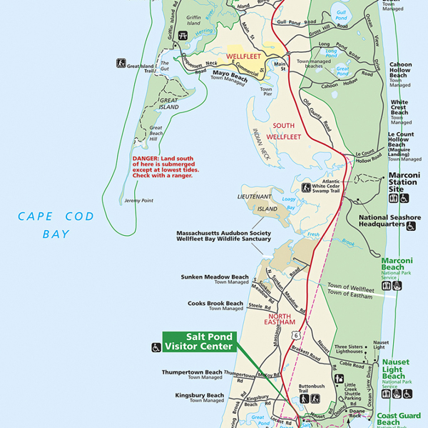 Eastham Cape Cod Map: Cape Cod National Seashore Map Pictures To Pin On