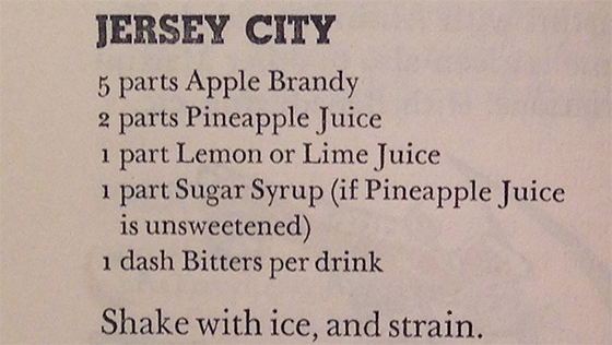 Jersey City Cocktail Recipe