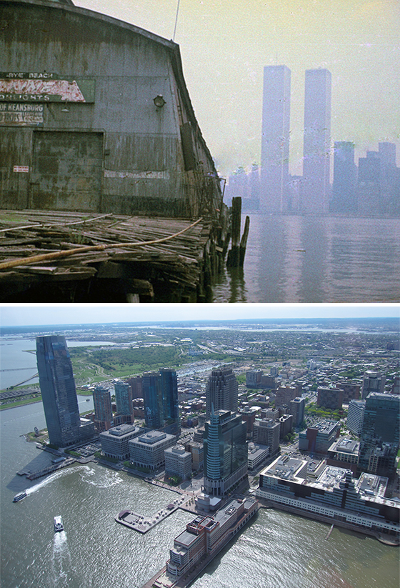 Jersey City Waterfront 1975 & 2015