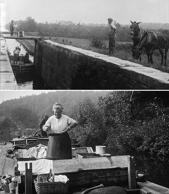 Morris Canal Locks, Mules, Boats