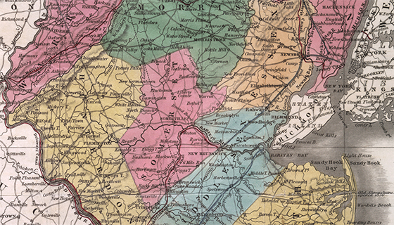 New Jersey in 1834 detail